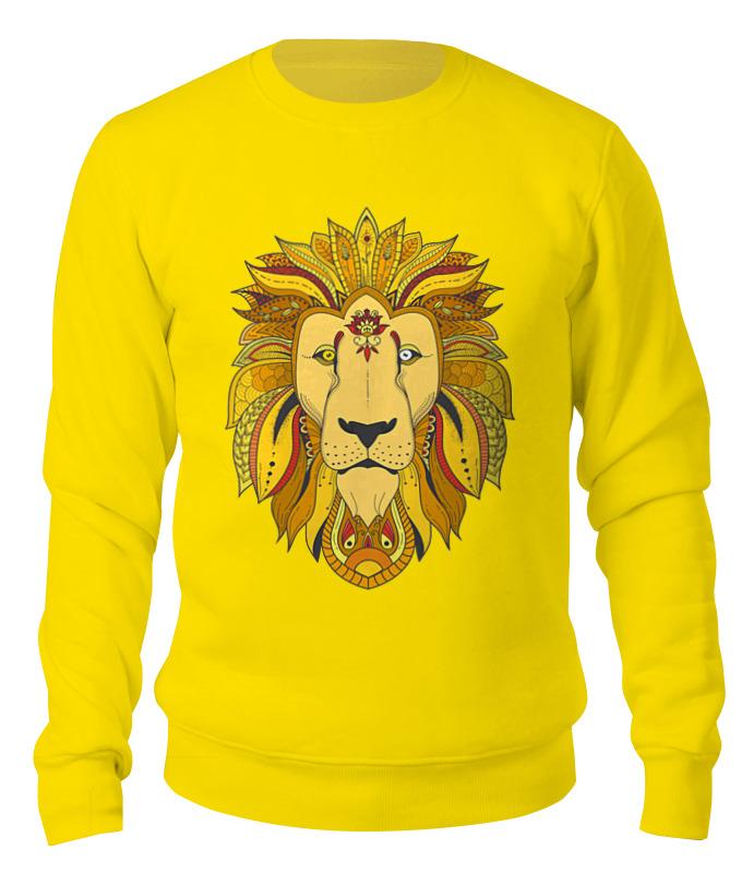 Printio Графический лев свитшот унисекс хлопковый printio графический лев