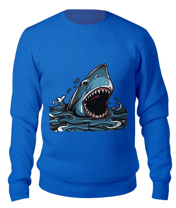 Свитшот унисекс хлопковый Printio Акула серова м клад белой акулы