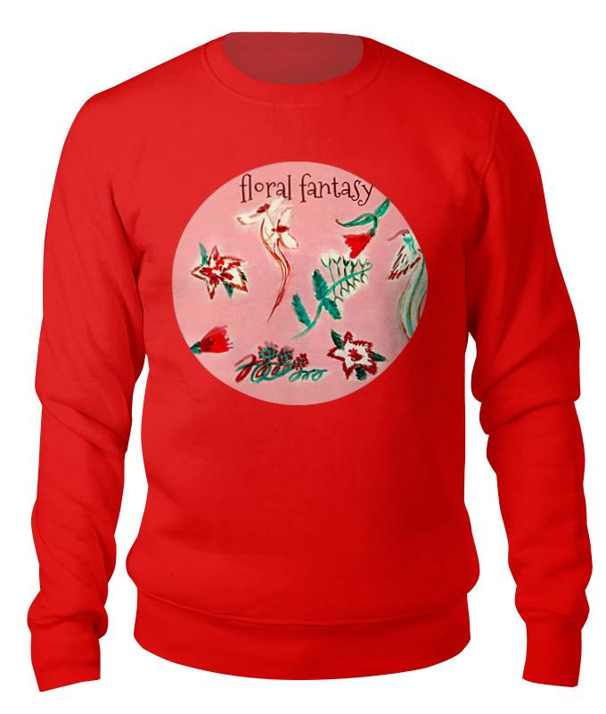 Свитшот унисекс хлопковый Printio Цветочная сказка юбка карандаш printio цветочная сказка