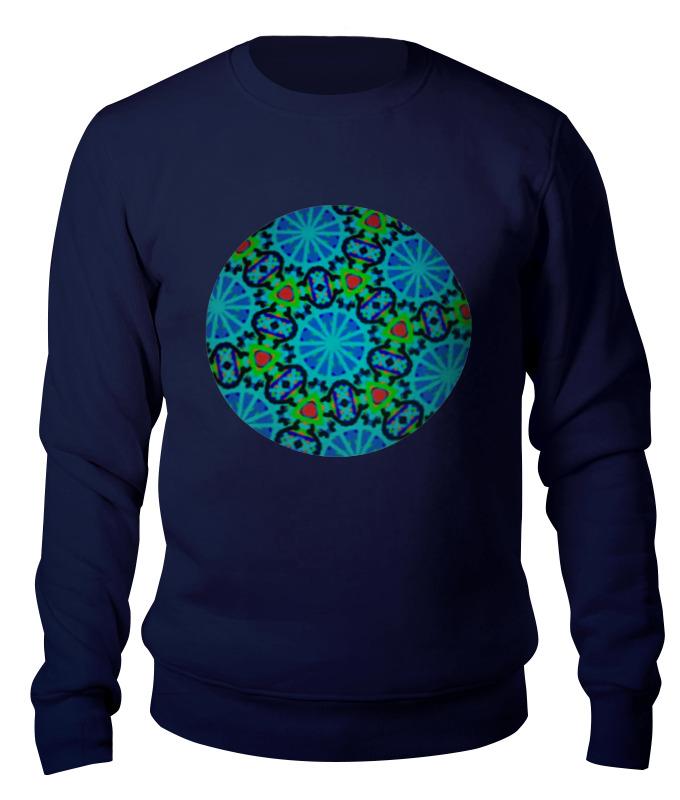 Свитшот унисекс хлопковый Printio Калейдоскоп калейдоскоп мозаика барселоны цвет синий белый оранжевый