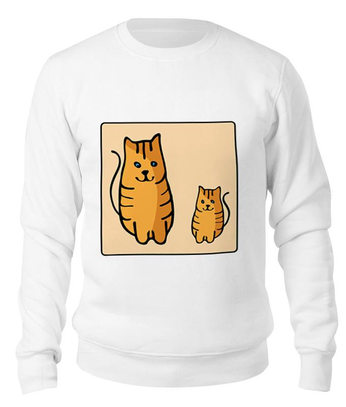 Свитшот унисекс хлопковый Printio Два котика, смотрящие друг на друга неизвестный друг