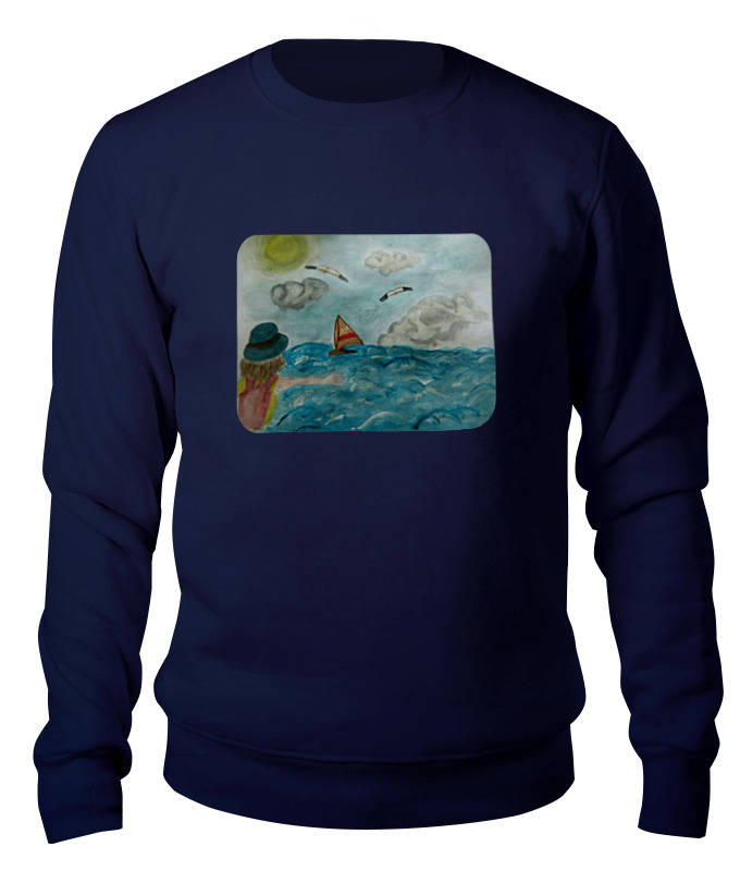 Свитшот унисекс хлопковый Printio Море. облака. парус. прихожая парус