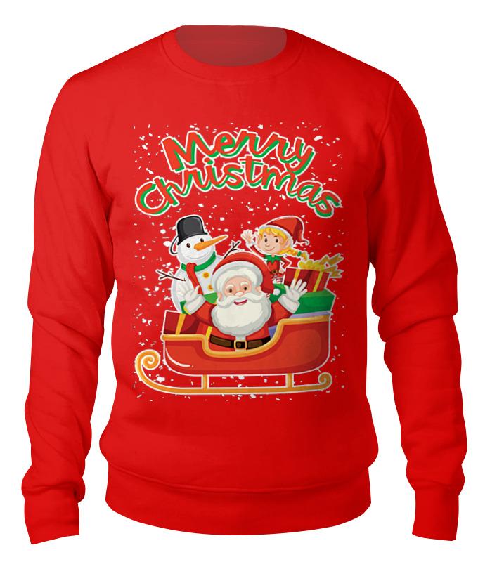 Свитшот унисекс хлопковый Printio Merry christmas свитшот print bar christmas fox