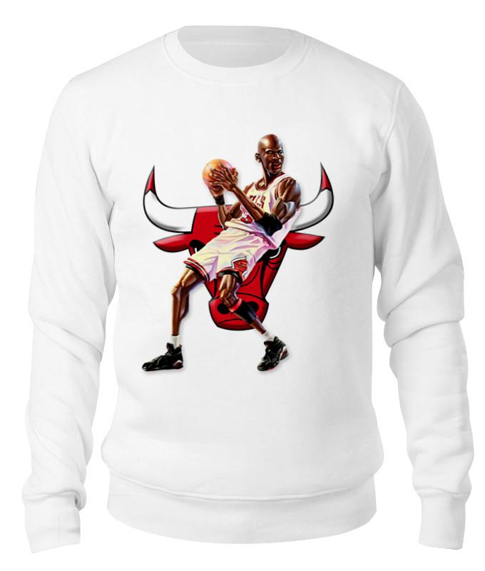 Свитшот унисекс хлопковый Printio Michael jordan cartooney баскетбольные кроссовки air jordan aj1 og chicago 555088 101