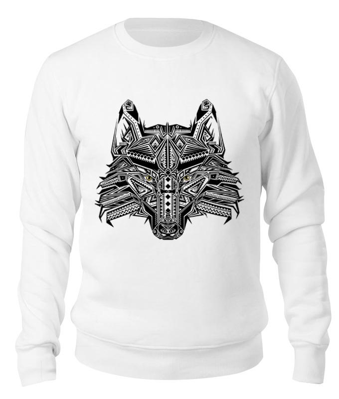 Свитшот унисекс хлопковый Printio Этнический волк цена