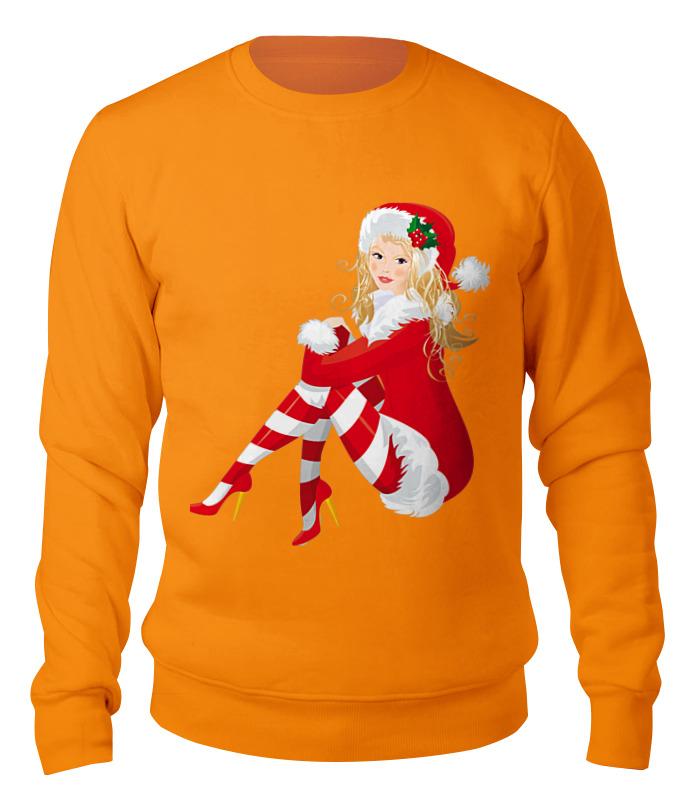 Свитшот унисекс хлопковый Printio Снегурочка костюм обаятельной снегурочки 40 44