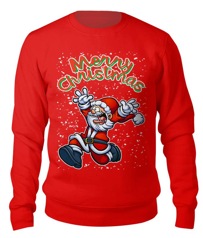 Свитшот унисекс хлопковый Printio Merry christmas (santa) детский свитшот унисекс printio merry christmas