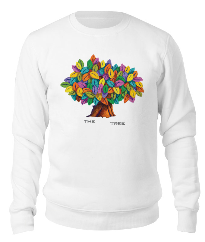 Свитшот унисекс хлопковый Printio Дерево счастья дерево счастья 15100053р