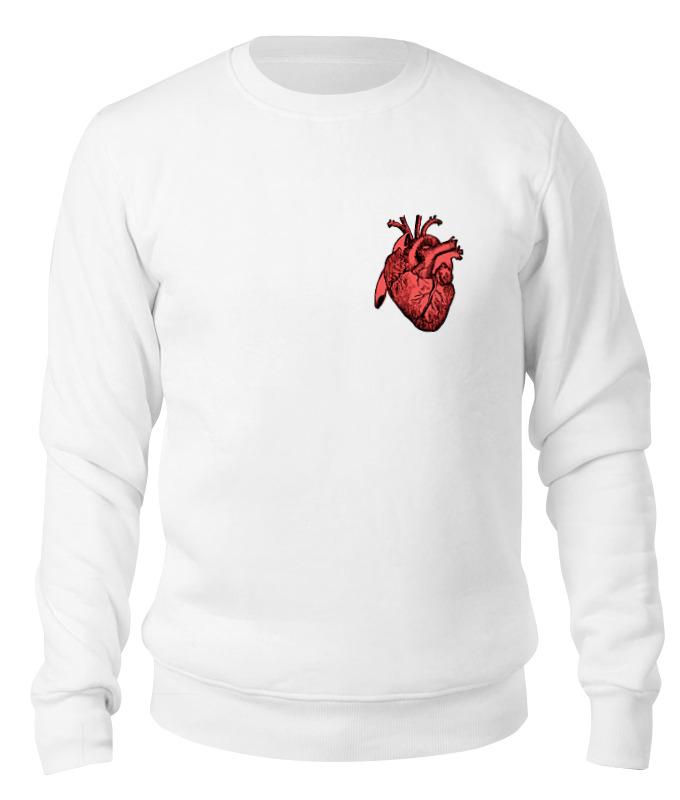 Свитшот унисекс хлопковый Printio Сердце цена 2017