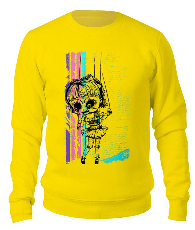 Свитшот унисекс хлопковый Printio Зомбяшка aideli жёлтый цвет 45 ярдов