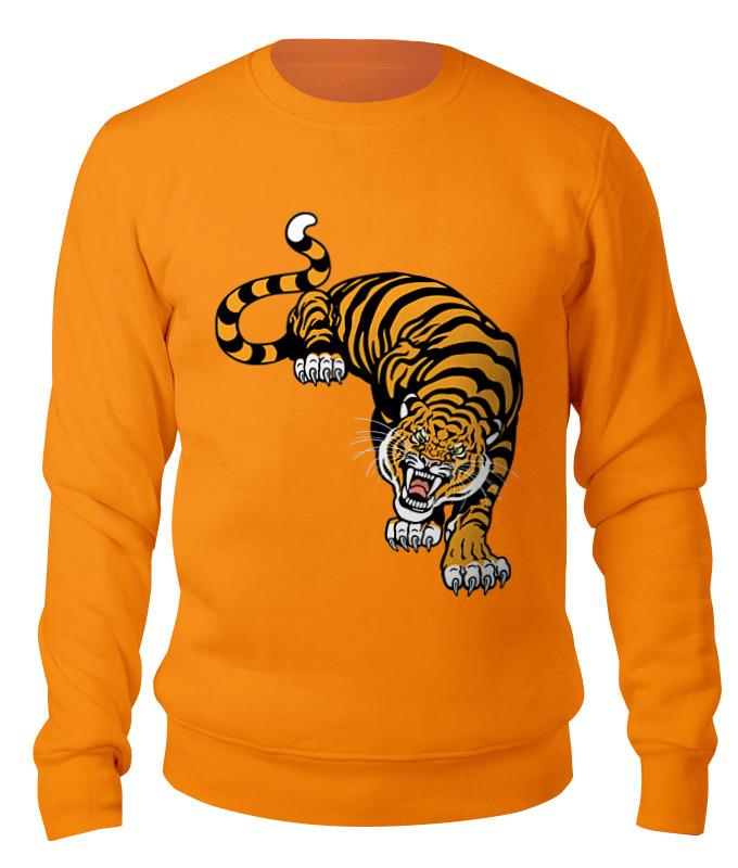 Свитшот унисекс хлопковый Printio Свирепый тигр свитшот унисекс хлопковый printio дикий тигр