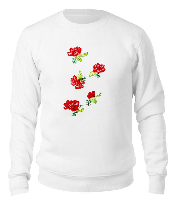 Свитшот унисекс хлопковый Printio Свитшот красные цветы