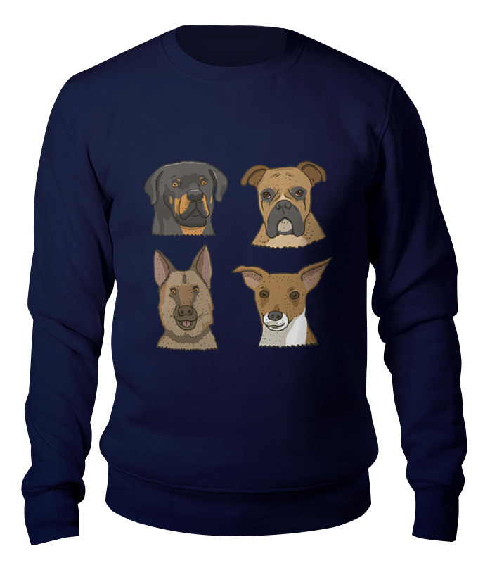Свитшот унисекс хлопковый Printio Собаки цена