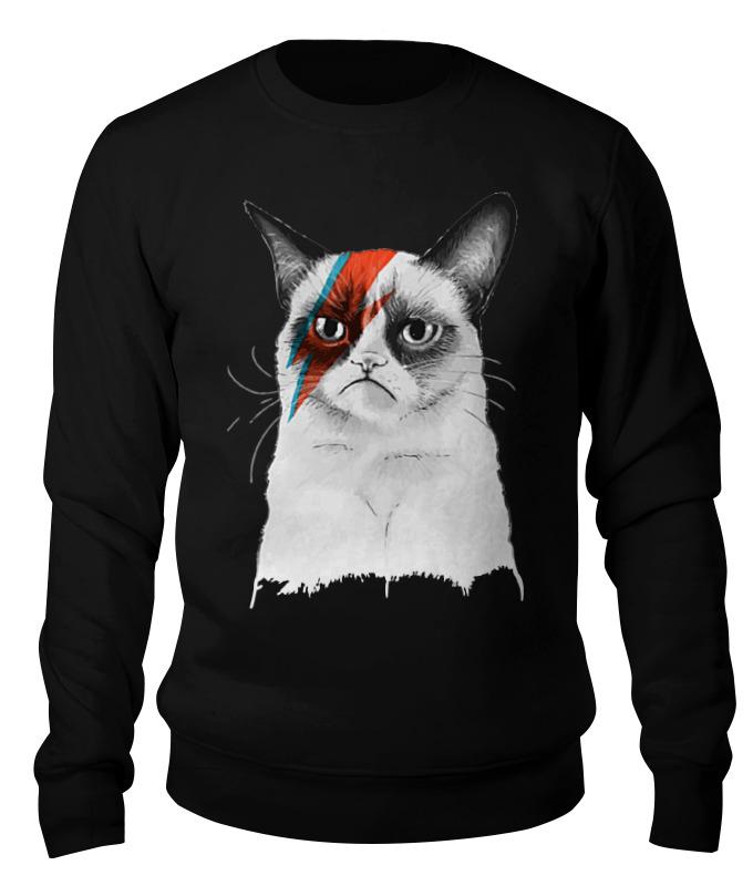 Свитшот унисекс хлопковый Printio Grumpy cat x david bowie сумка printio grumpy cat x bowie