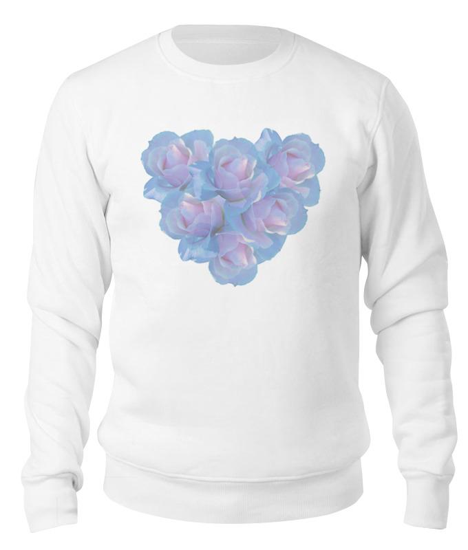Свитшот унисекс хлопковый Printio Нежные цветы блокнот кофемана нежные цветы