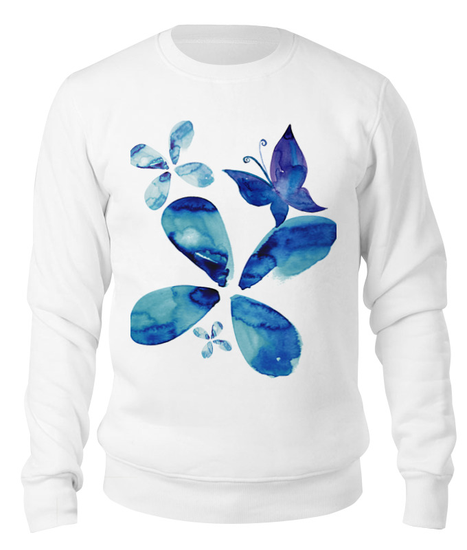 Свитшот унисекс хлопковый Printio Sweet spring (blue)