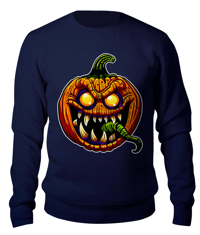 Свитшот унисекс хлопковый Printio Halloween pumpkin skiip31nab12t49 skiip32nab12t1 skiip32nab12t49 new original stock