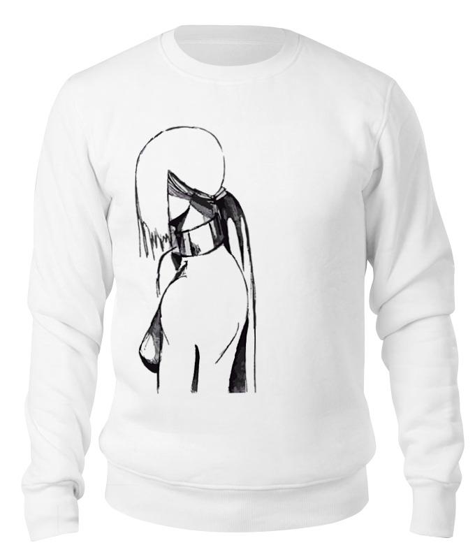 Свитшот унисекс хлопковый Printio Аниме , девушка , голая мишель промолайко голая и красивая