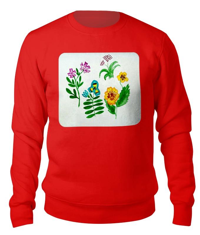 Свитшот унисекс хлопковый Printio Полевые цветы блокнот кофемана нежные цветы