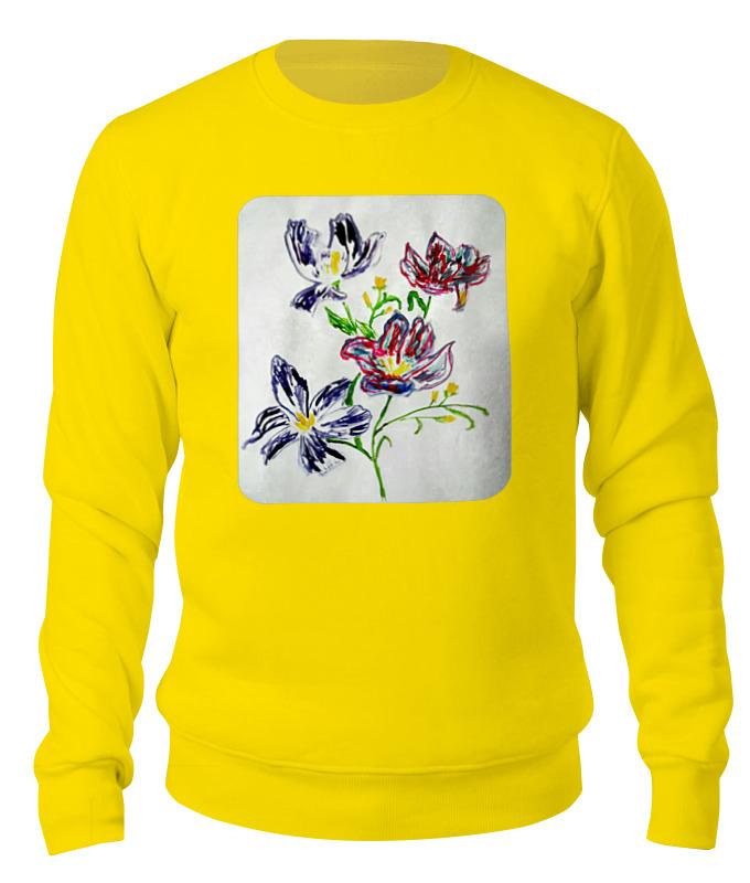 Свитшот унисекс хлопковый Printio Лиловые цветы