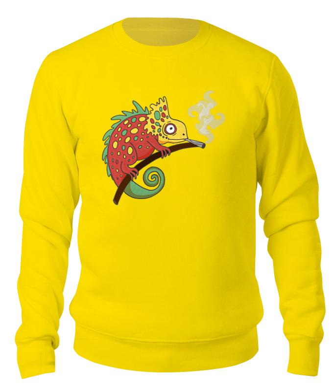Свитшот унисекс хлопковый Printio Хамелеон aideli жёлтый цвет 45 ярдов