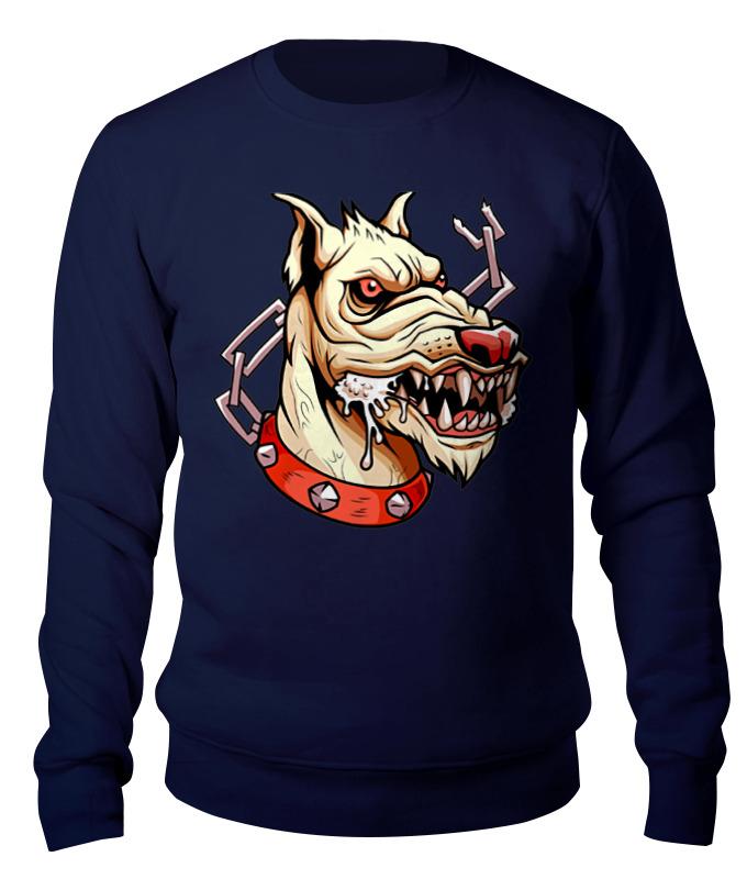 Свитшот унисекс хлопковый Printio Злой пёс лагунов к я белый пёс синий хвост
