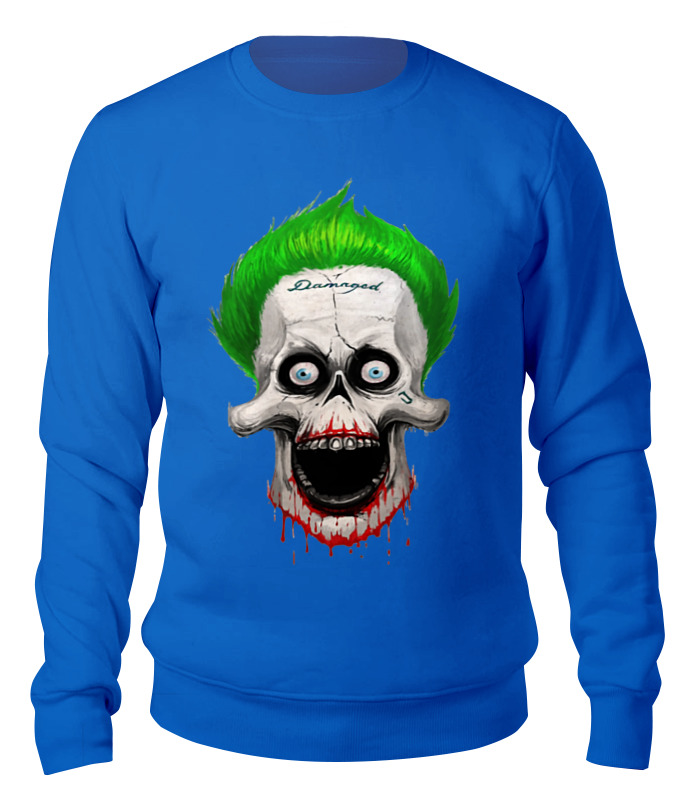 Свитшот унисекс хлопковый Printio The joker skull skull off the shoulder tunic sweater