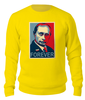 "Свитшот унисекс хлопковый ""Don't worry, Putin forever, в стиле Obey"" - путин, obey, osecp, putin, forever"
