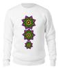 """Свитшот унисекс хлопковый """"Неоновые цветы механди"""" - цветы, орнамент, этнический, индийский, мехенди"""