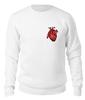 "Свитшот унисекс хлопковый ""Сердце"" - сердце, медицина, работа, студент, врач"