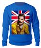 """Свитшот унисекс хлопковый """"Freddie Mercury (QUEEN)"""" - музыка, фредди меркьюри, квин, богемская рапсодия, киноманам"""
