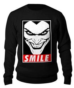 """Свитшот унисекс хлопковый """"Джокер"""" - joker, smile, джокер, улыбка"""