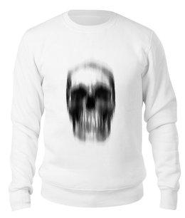 """Свитшот унисекс хлопковый """"Skull"""" - череп, скелет, иллюзии, символ, анатомия"""