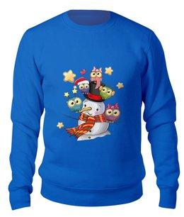 """Свитшот унисекс хлопковый """"Снеговик"""" - новый год, снеговик"""