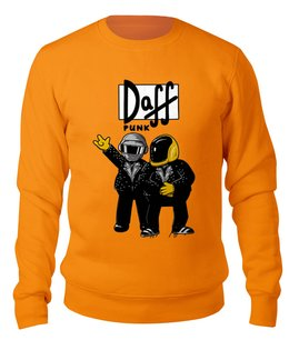 """Свитшот унисекс хлопковый """"Daft Punk"""" - симпсоны, daft punk, the simpsons"""