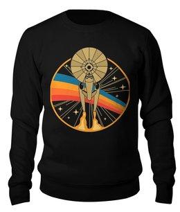 """Свитшот унисекс хлопковый """"Star trek"""" - космос, star trek, звёздный путь, star fleet, звёздный флот"""