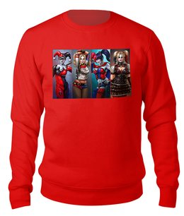 "Свитшот унисекс хлопковый ""Harley Quinn Different"" - комиксы, харли квинн, dc комиксы, отряд самоубийц, суперзлодеи"
