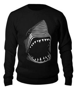 "Свитшот унисекс хлопковый ""Акула( Baywatch)"" - акула, baywatch"