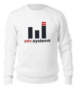 "Свитшот унисекс хлопковый ""Бренд ADV.Systems"" - музыка, сувенир, бренды, промо"