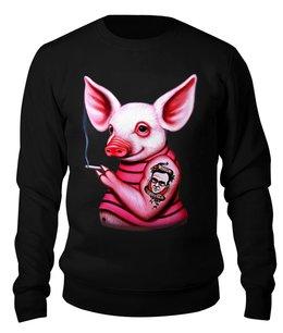 """Свитшот унисекс хлопковый """"Неформальная свинка"""" - свинка, свинья, хрюшка, поросёнок, хряк"""