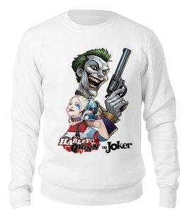 """Свитшот унисекс хлопковый """"The Joker & Harley Quinn Design"""" - джокер, харли квинн, dc комиксы, отряд самоубийц, суперзлодеи"""