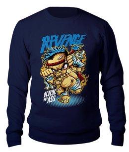 """Свитшот унисекс хлопковый """"Revenge"""" - боевые искусства, карате, боец, автоспорт, хобби"""