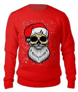 "Свитшот унисекс хлопковый ""BAD SANTA"" - юмор, новый год, борода, санта клаус, плохой санта"