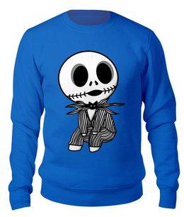 """Свитшот унисекс хлопковый """"Jack Skellington"""" - юмор, скелет, мультфильм, кошмар перед рождеством, джек скеллингтон"""