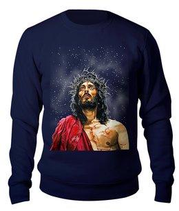 """Свитшот унисекс хлопковый """"Jesus Christ"""" - мужу, сыну, христианство, иисус христос, рилигия"""