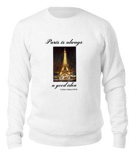"""Свитшот унисекс хлопковый """"Париж"""" - шоколад, париж, одри хепберн, paris, эйфелева башня"""