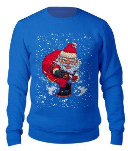 "Свитшот унисекс хлопковый ""Santa Snowboard"" - юмор, новый год, сноуборд, санта клаус, катание"