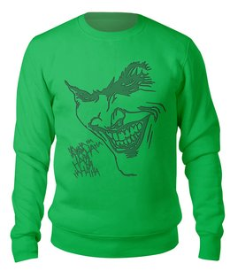 """Свитшот унисекс хлопковый """"The Joker"""" - the joker, dc комиксы, джокер, суперзлодей, отряд самоубийц"""