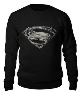 "Свитшот унисекс хлопковый ""Супермен (Superman)"" - супермен, superman"