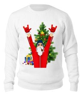 """Свитшот унисекс хлопковый """"SANTA PILOT"""" - юмор, рождество, санта клаус, елка, пилот"""